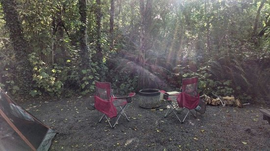 Pomo RV Park & Campground: Fire pits are recycled washing machine tubs. Ingenious