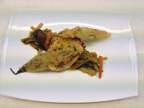 Ochsen: orata in crosta, tempura e verdure