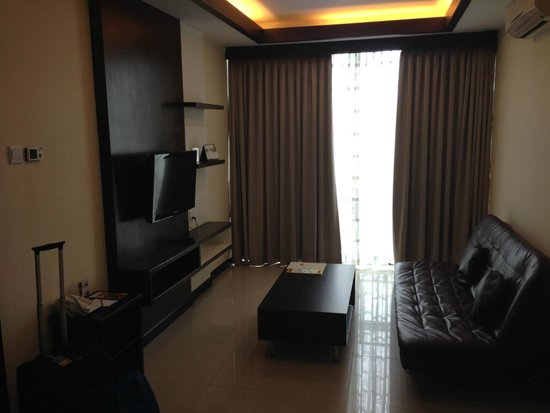The BCC Hotel & Residence: TV area