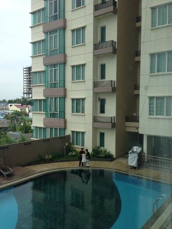 The BCC Hotel & Residence: Window vew from room (Adjacent block)
