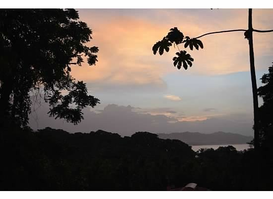 Cashew Hill Jungle Cottages: Sunset from yoga platform