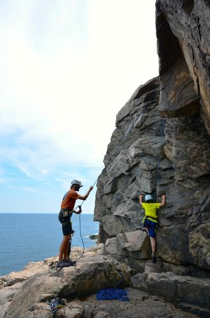 Atlantic Climbing School: First climb