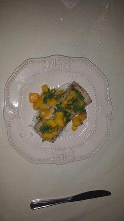 The Essential Cafe & Bistro: Mahi Mahi with mango cilantro chutney