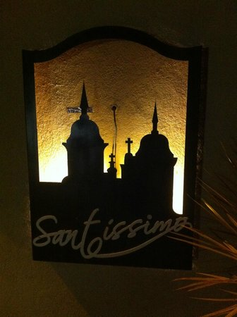 Santissimo Resort: Letreiro do hotel