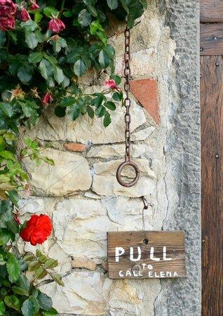 Borgo Argenina: Charming door bell