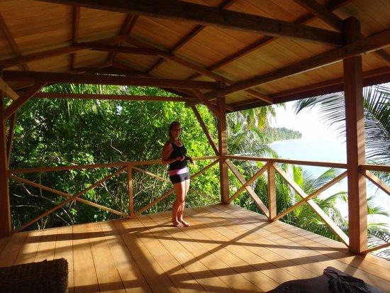 WavePark Mentawai Resort: Our Yoga Studio - best view of my life