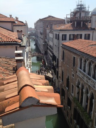 Hotel Colombina: View from canal room/3rd floor.