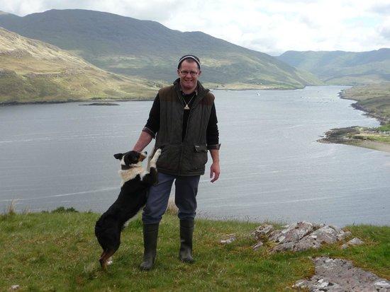 Killary Sheep Farm: Tom and his faithful companion