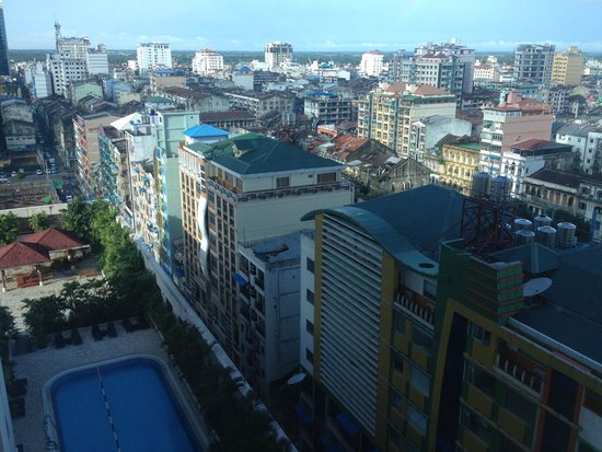 Sule Shangri-La Yangon: outside window.