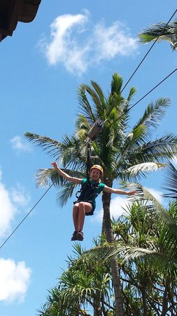 Maui Zipline Company: 11 year old's 1st time