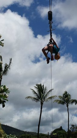 Maui Zipline Company: Back bend (9 year old)