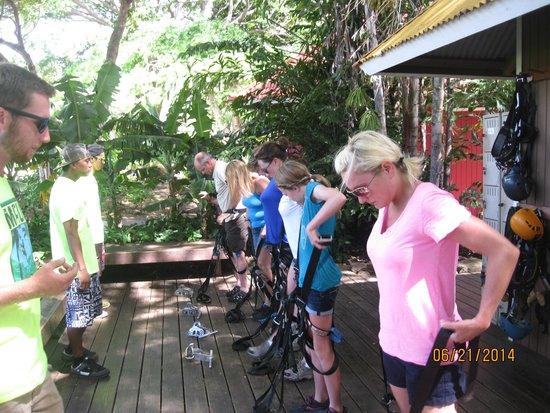 Maui Zipline Company: Getting ready