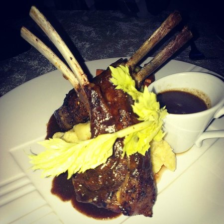 The Bistro: Lamb rack on a bed of mash potatoes
