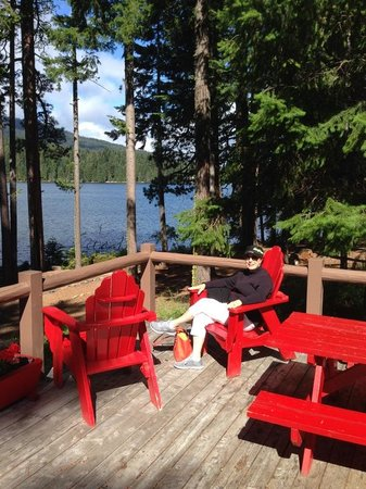 Lake of the Woods Resort: On the deck at Lake of the Woods