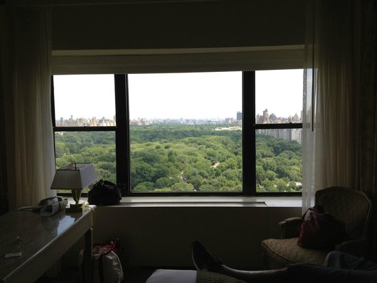 Park Lane Hotel: View from two double bed, park view room (June 22)