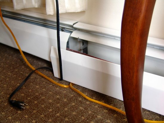 Stanley Hotel : Cable Mess in Room 1203