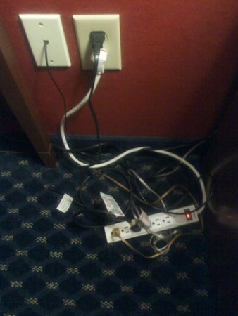 Best Western La Plata Inn: Hotel Cord Mess (Close-up)