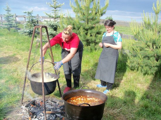 Cabana Motilor: goulash & polenta