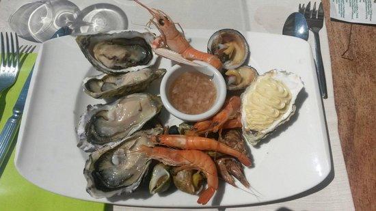 Restaurant du Port : l'assiette de fruits de mer ... Une entrée !