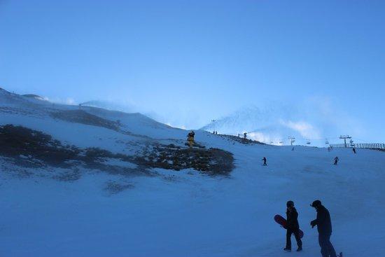 Coronet Peak: Snow making in the process