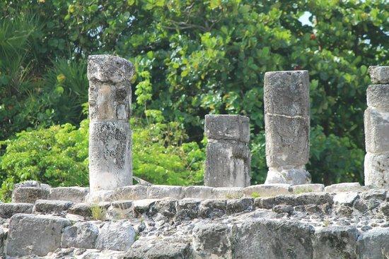 Zona arqueológica El Rey: Some columns at El Rey