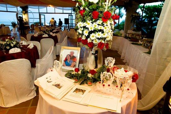 Bay View Hotel: Presentacion mesa de entrada por evento