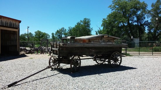 Hoofprints of the Past Museum: Historic farm equipment in the back