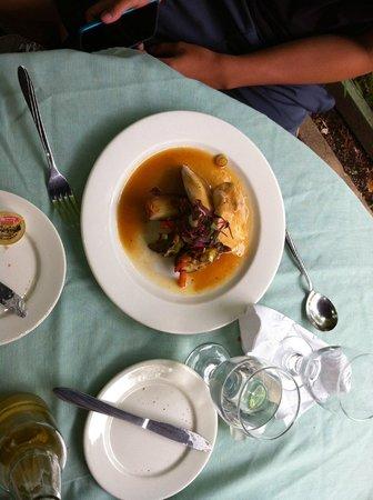 Moulin de St-Laurent- Restaurant- Chalets: pork dish