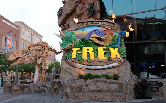 T-Rex Outside