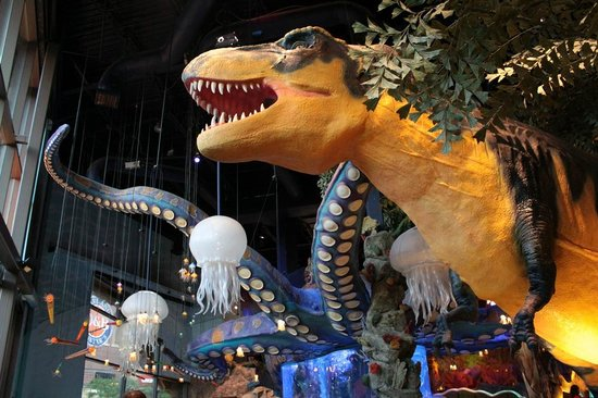 The T-Rex that greets diners!