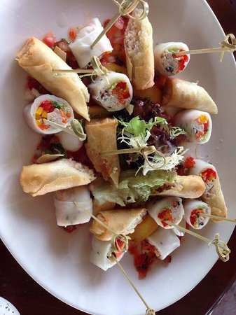 The Residence Maldives: Special spring rolls from the Chef