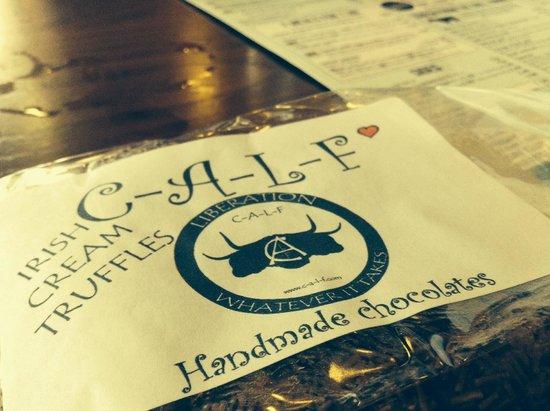 Calf Sanctuary Cafe: Irish truffles.