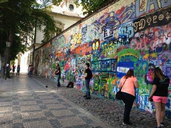 The John Lennon Wall in Mala Strana.