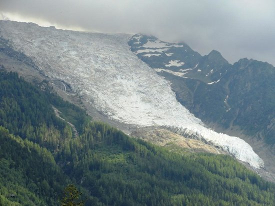 Glacier des Bossons : view from Chamonix