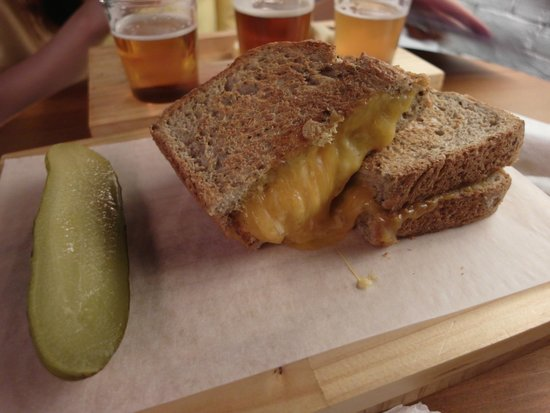 Beer and Cheese Social House : Cheese sandwich. Must try!
