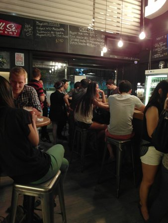 Beer and Cheese Social House : Majority of the customers are foreigners.