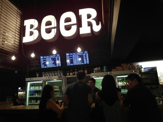 Beer and Cheese Social House : In side the bar.