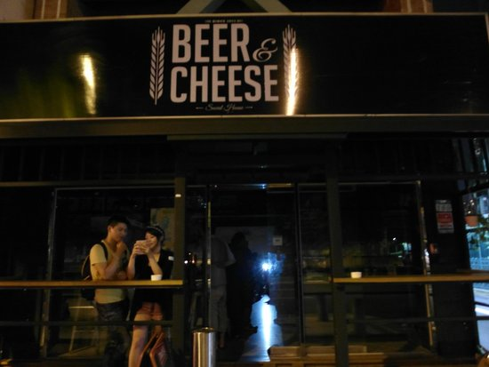 Beer and Cheese Social House : Out side of the bar. They also have outdoor seats.