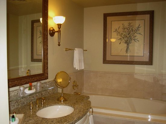The Carlton Hotel: Large Bathroom with Sanijet Tub