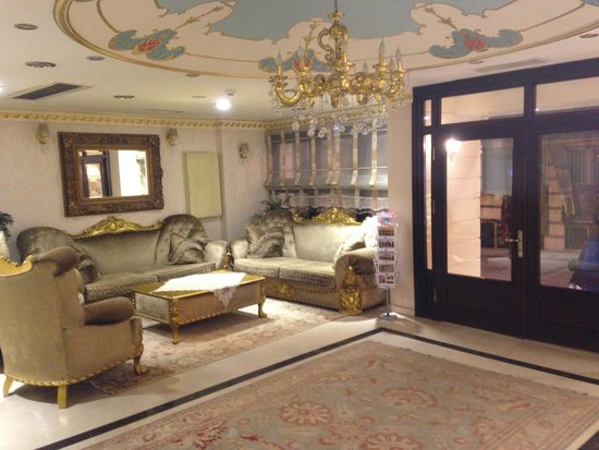 White House Hotel Istanbul : The comfy reception area