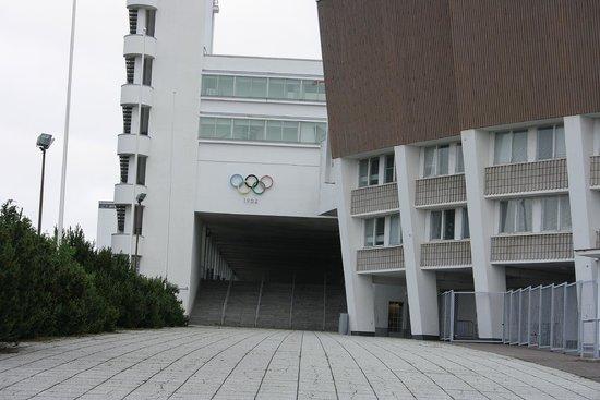 Olympic Stadium (Olympiastadion) : the olympic sign