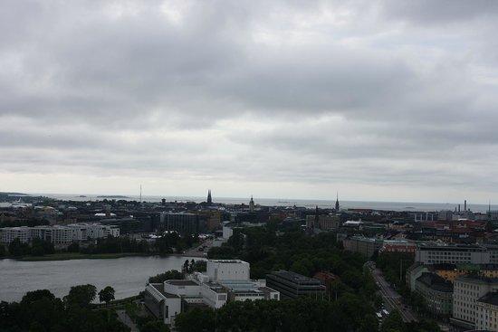 Olympic Stadium (Olympiastadion): view of Tölöö lake and the City