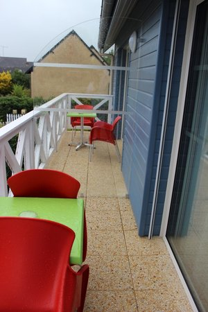 Motel Les Bleuets : Terrasse privative