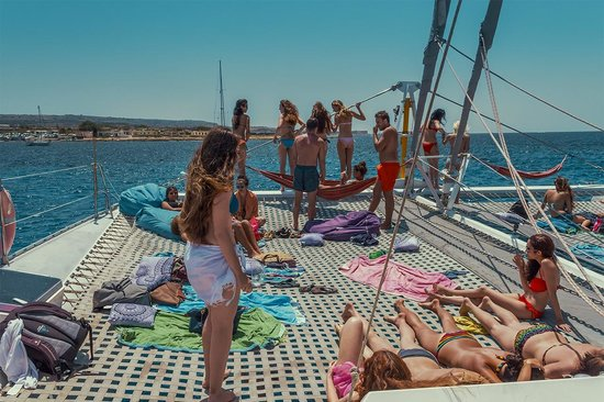 Tip Top One Day Cruise Malta: The Deck of the Tip Top One