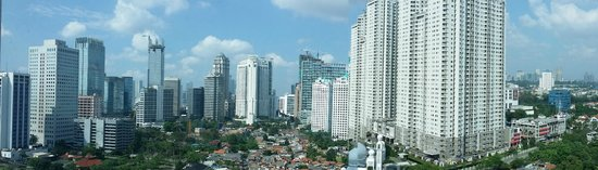 Shangri-La Hotel Jakarta: window view