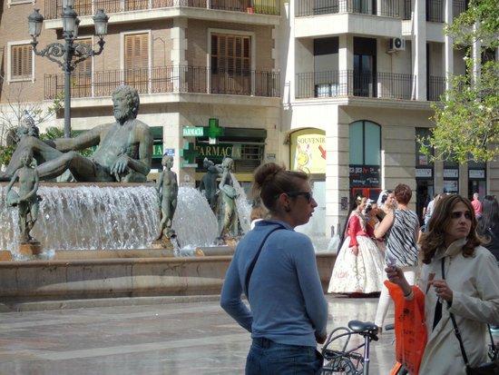 Plaza de la Virgen: fontana