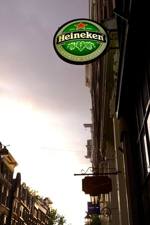 MAX Amsterdam : Outside seating and Heineken sign.