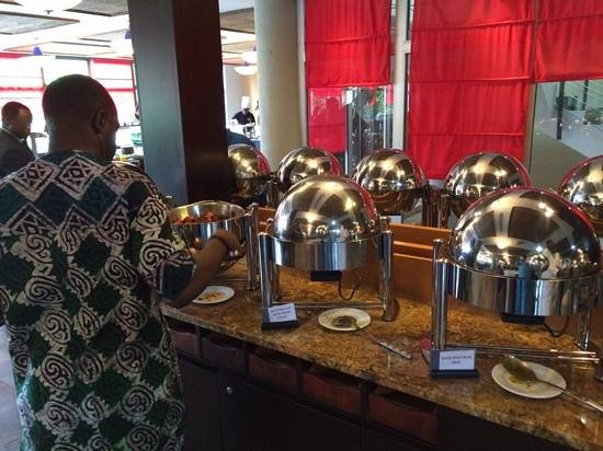 Ibom Hotel & Golf Resort: Food time!