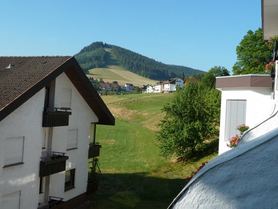 Hotel Berghof: uitzicht vanaf het balkon