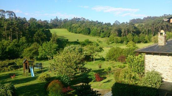 Hacienda Llamabua: vista desde la ventana de nuestro apartamento
